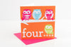 Four Girls Birthday Card