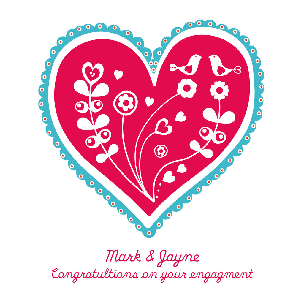 Personalised On Your Engagement Card