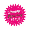Pink Star Happy Birthday Pressed Card