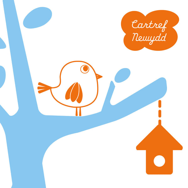 Welsh Tree New Home Card/ Cartref Newydd!