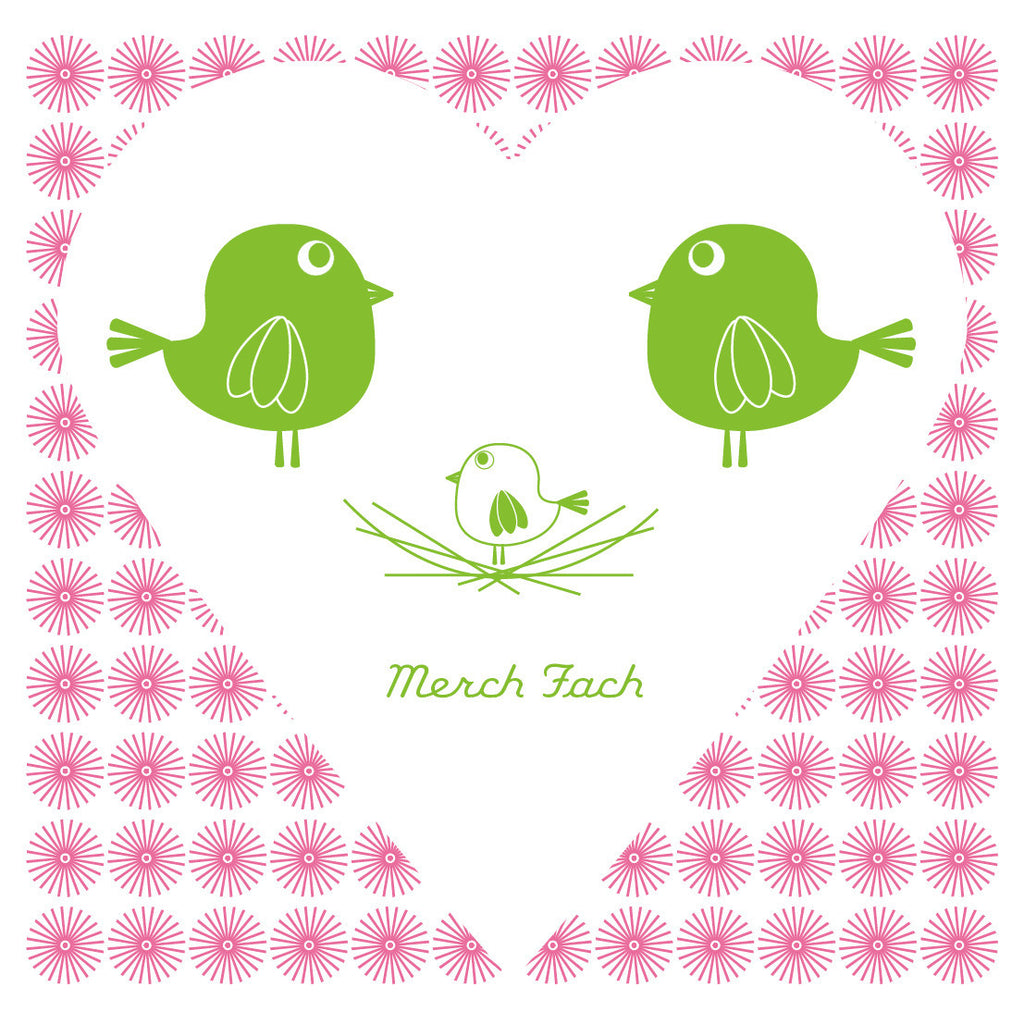 Welsh Little Girl Bird Card/ Merch Fach