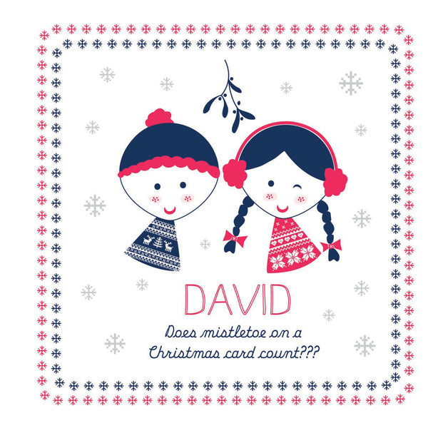Personalised Mistletoe Card