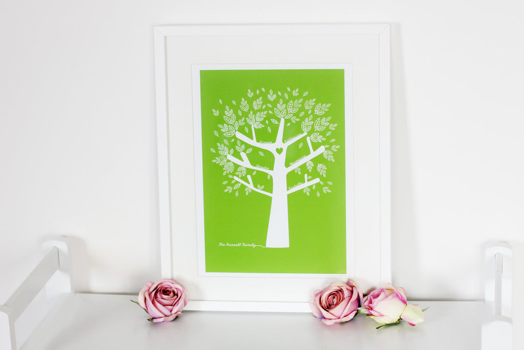 Personalise Our Family Tree Print