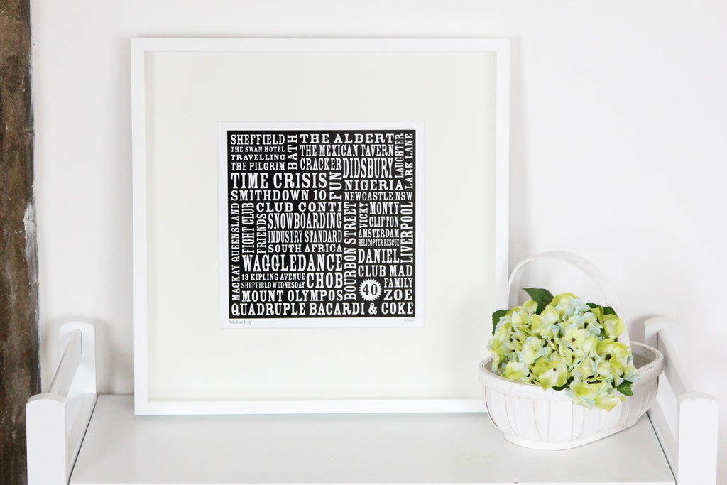 Personalise Our Text Print