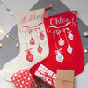 Personalised Bauble Christmas Stocking