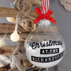 Personalised Family Name Christmas Bauble