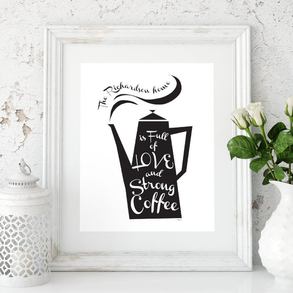 Personalise Our Coffee Pot Print