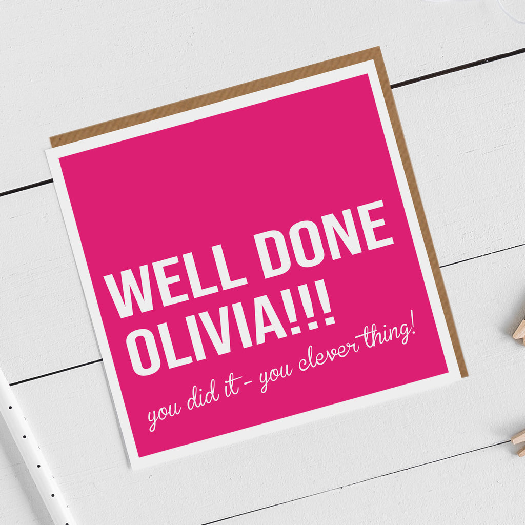 Personalised Clever Thing Exam Results Card
