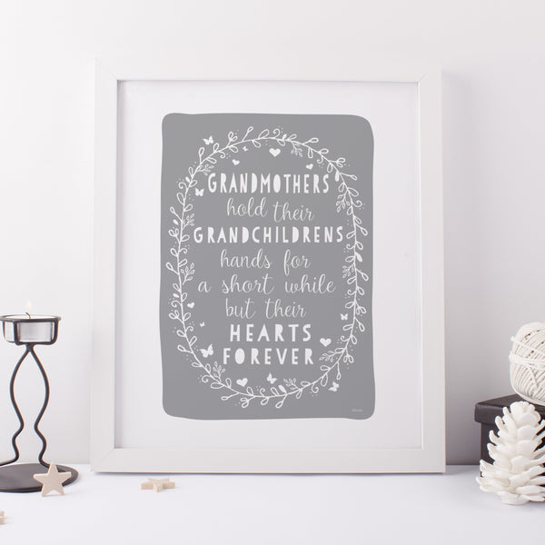 Grandmother Quote Gift Print