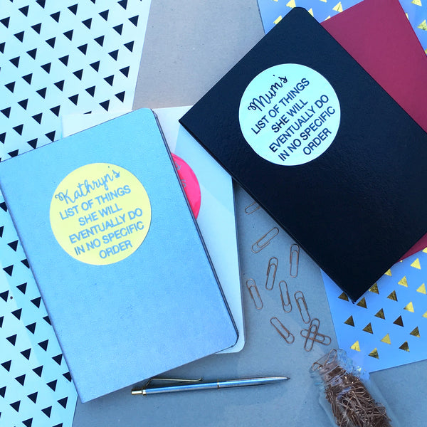 Personalised List of Things To Do Notebook