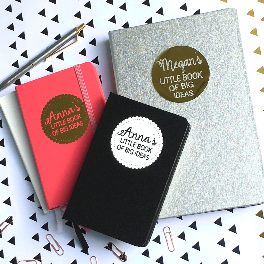Personalised Little Book of Big Ideas Notebook