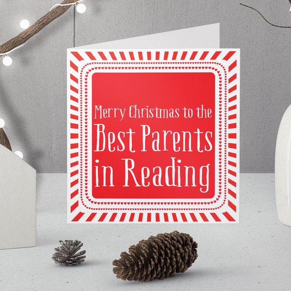 Personalised Best Parents Christmas in ... Card