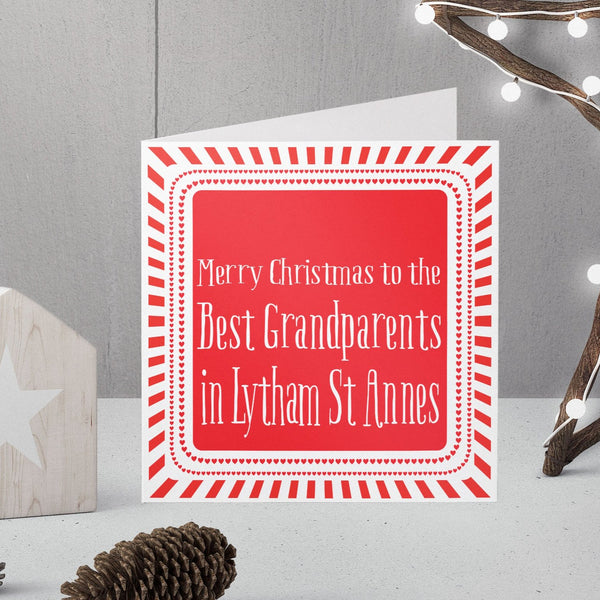 Personalised Best Grandparents Christmas in ... Card