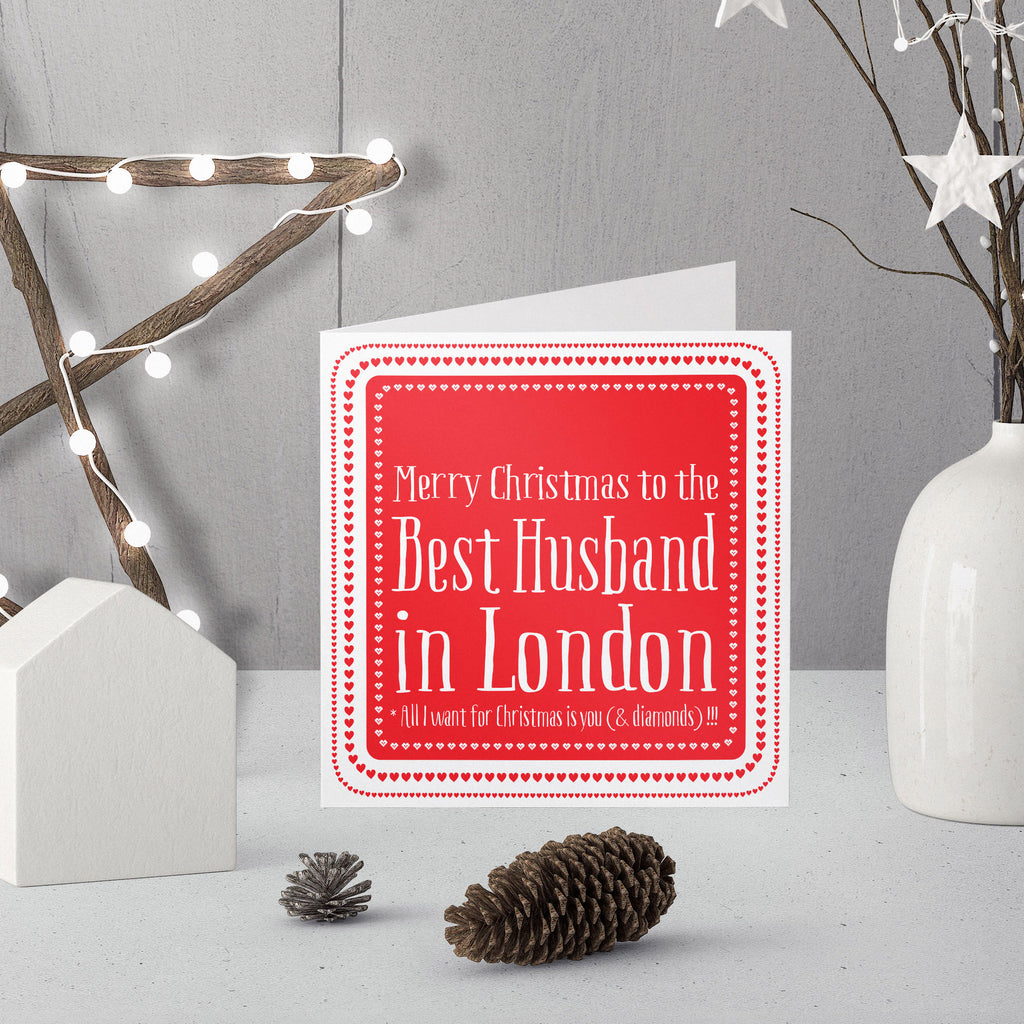 Personalised Best Husband in ... Christmas Card