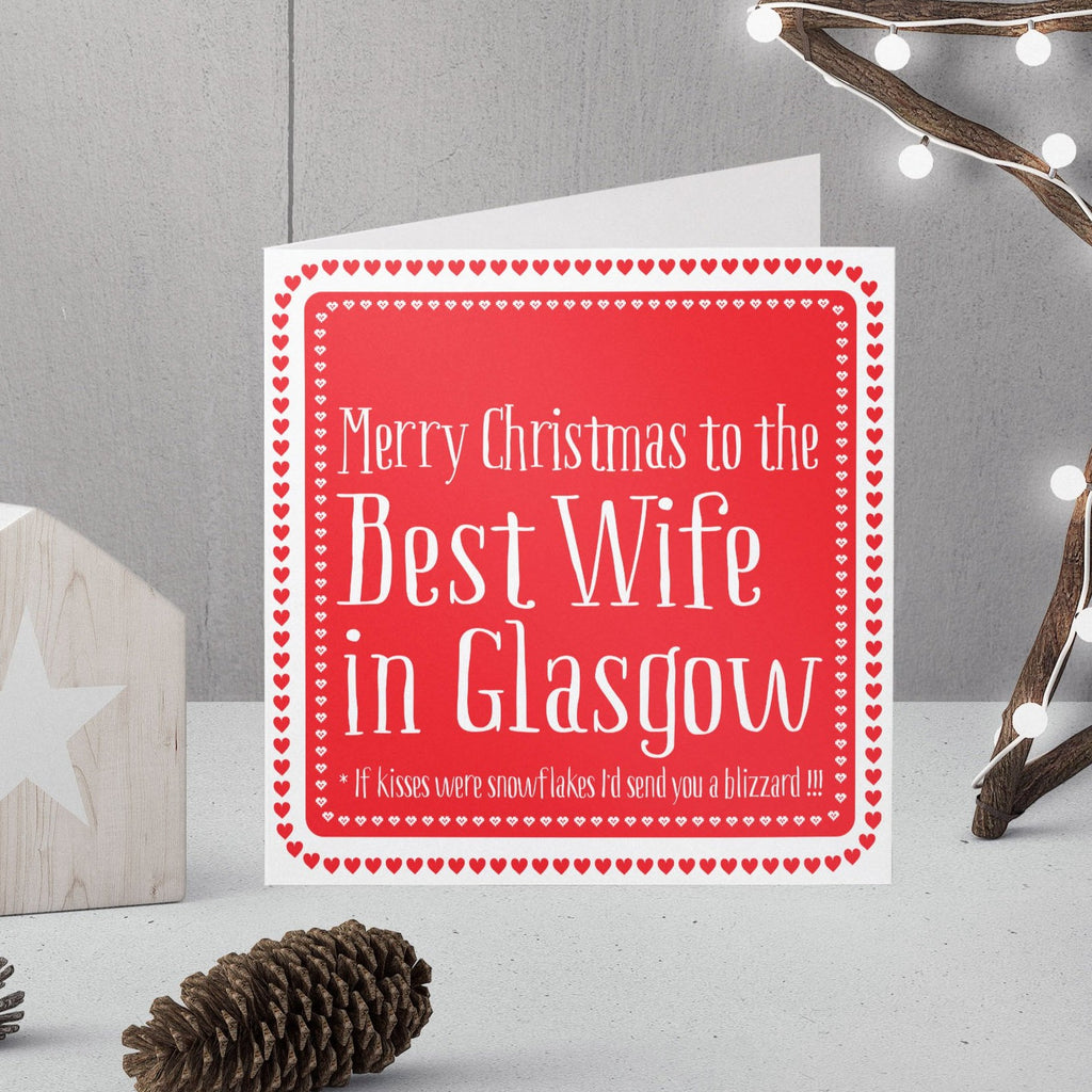 Personalised Best Wife Christmas in ... Christmas Card