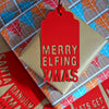Six Fun Merry Elfing Festive Papercut Gift Tags
