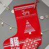 Personalised Glitter Christmas Tree Stocking
