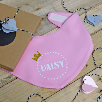 Prince/Princess Personalised Baby Bib
