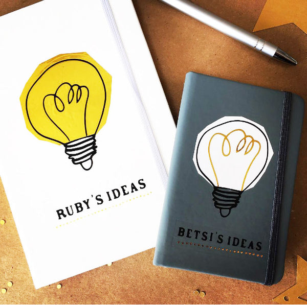 Personalised Lightbulb Notebook