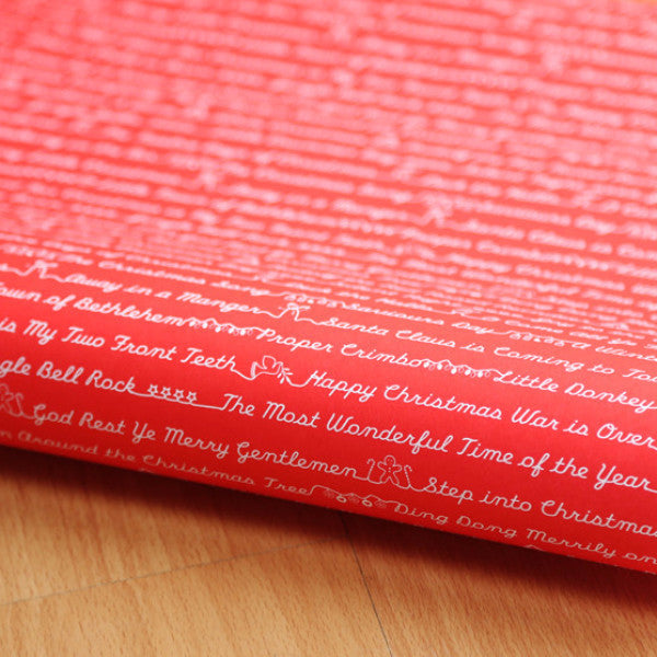 Christmas Songs Red/White Christmas Wrap