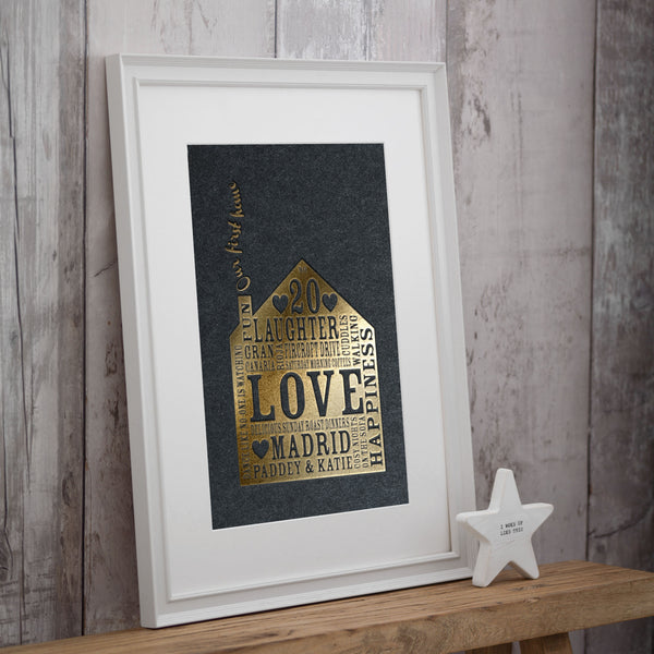 Metallic Personalise Our Home Print