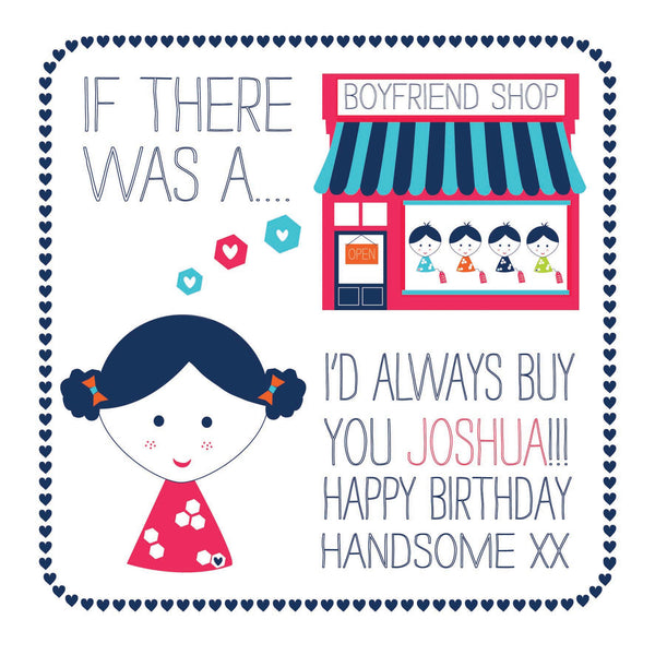 Personalised Boyfriend Shop Card