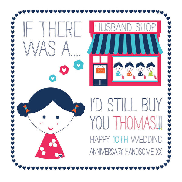 Personalised Husband Shop Card