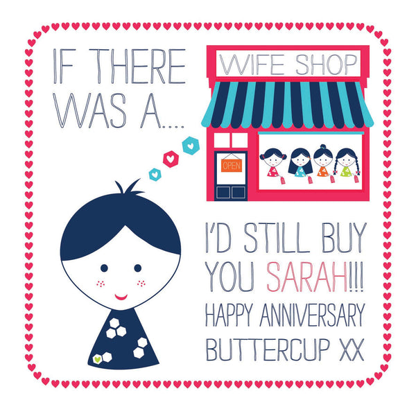 Personalised Wife Shop Card
