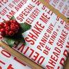 The Naughty Corner Red on White Gift Wrap