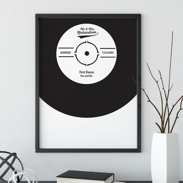 Personalise First Dance Vinyl Wedding Gift Print