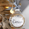 Personalised Name Christmas Wreath Bauble