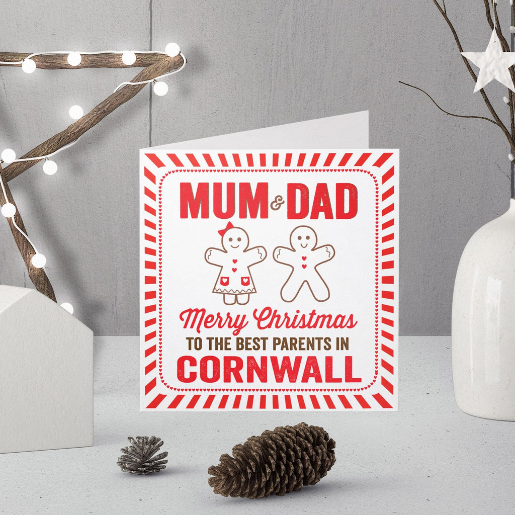 Personalised Best Parents Christmas Card