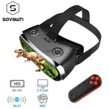 Sovawin All In One VR Hdmi Headset 2K HD Wifi 3D Smart Immersive Goggle Cardboard VR Helmet 5.5' Display