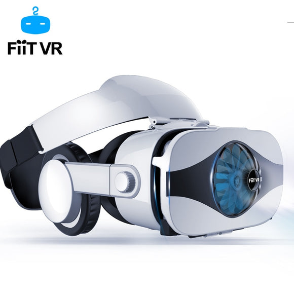 Fiit VR 5F headset version Fan cooling virtual reality glasses 3D glasses Deluxe Edition for Smartphones