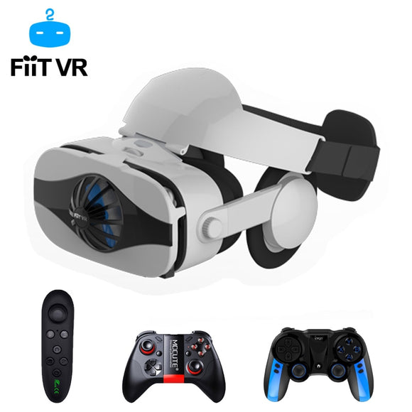 Fiit - Viar Helmet 3D VR Glasses Virtual Reality Headset For iPhone Android Smartphone