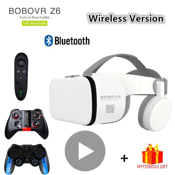 Bobo Bobovr Z6 Bluetooth Casque Helmet 3D VR Glasses Virtual Reality Headset For Smartphone