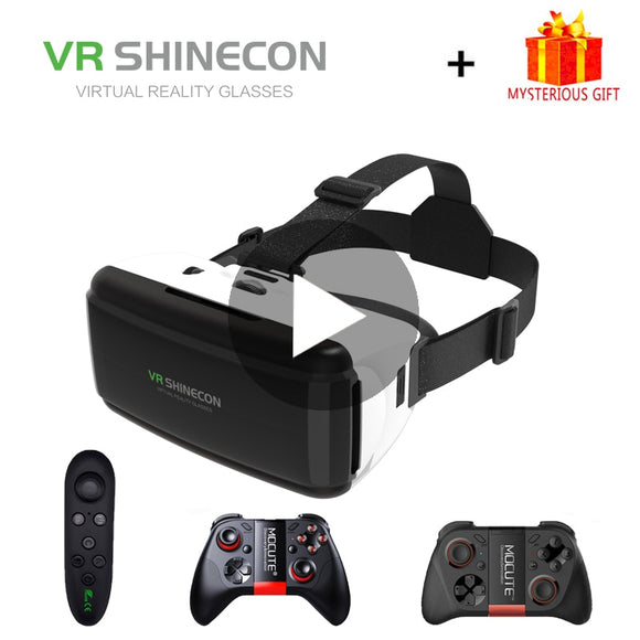 VR Shinecon Viar Virtual Reality Glasses 3D For iPhone Android Smart Phone Smartphone Headset Helmet Goggles Casque Video Game