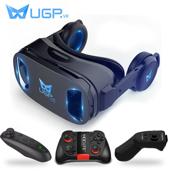 UGP U8 VR Headset version IMAX Virtual Reality Helmet 3D Movie Games With Headphone for Smartphones