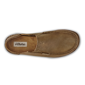 Olukai Moloa Mens Leather Slip On - Ray/Toffee