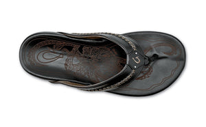 Olukai Mea Ola Mens Leather - Black
