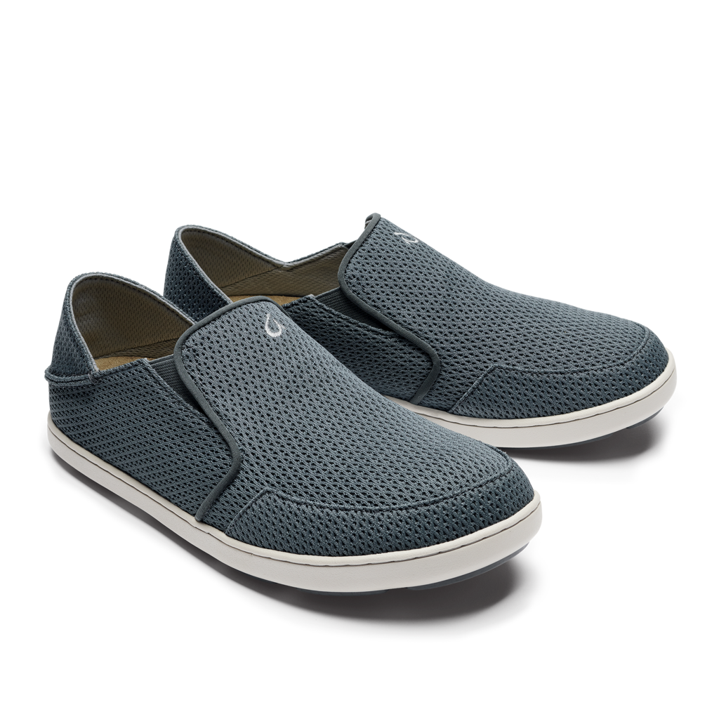 Olukai Nohea Mesh Mens Slip On - Wind Grey