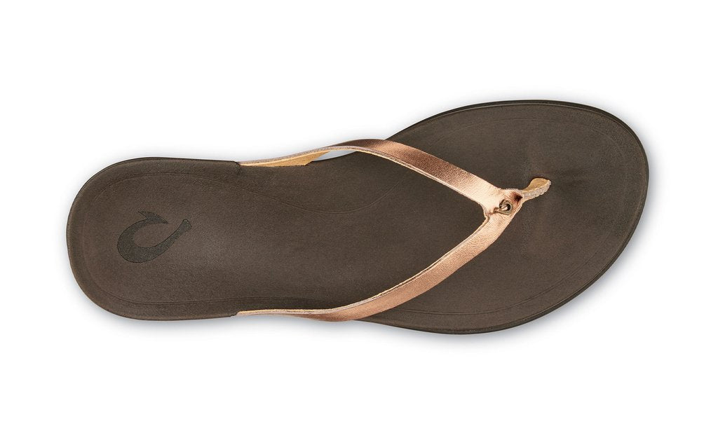Olukai Ho'opio Leather Womens - Copper/Dark Java
