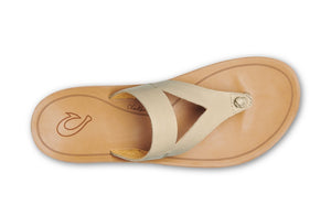 Olukai Kaekae Ko'o Leather Womens - Tapa/Sand