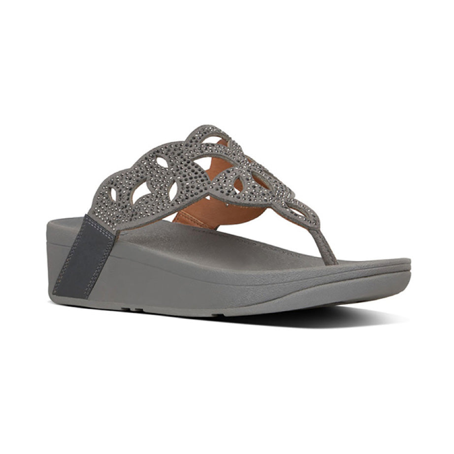 Fit Flop Elora Crystal Thong Sandal - Pewter