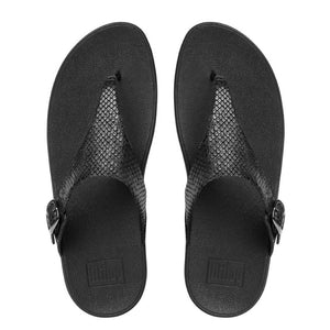 Fit Flop The Skinny Thong Sandal - Black Snake