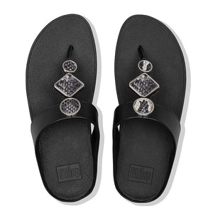 Fit Flop Leia Thong Sandal - Black