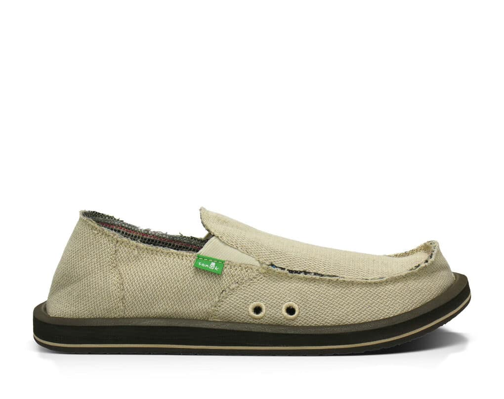 Sanuk Mens Hemp Slip On - Natural
