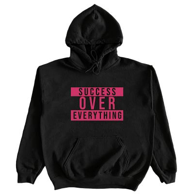 """SUCCESS ADVISORY HOODIE"" (BLACK/PINK)"