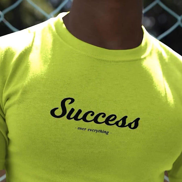 """SUCCESS TEAM LOGO"" TEE (SAFETY GREEN)"