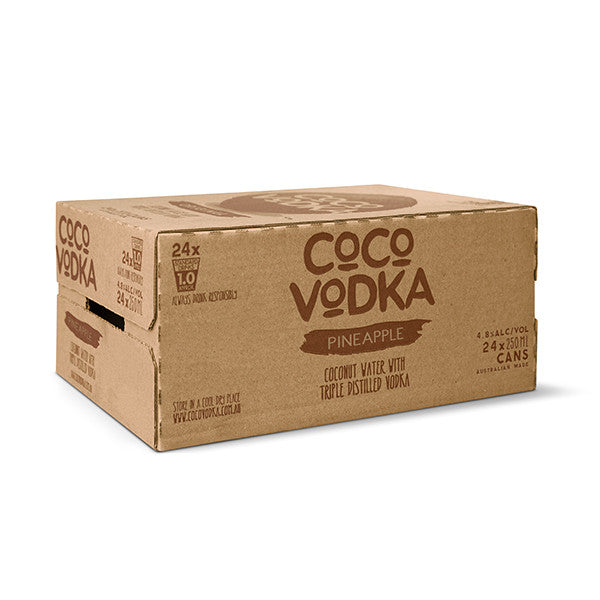 Coco Vodka Pineapple (24 x 250ml Cans)